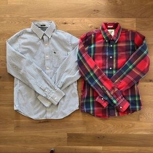 2 Abercrombie & Fitch button down- muscle fit